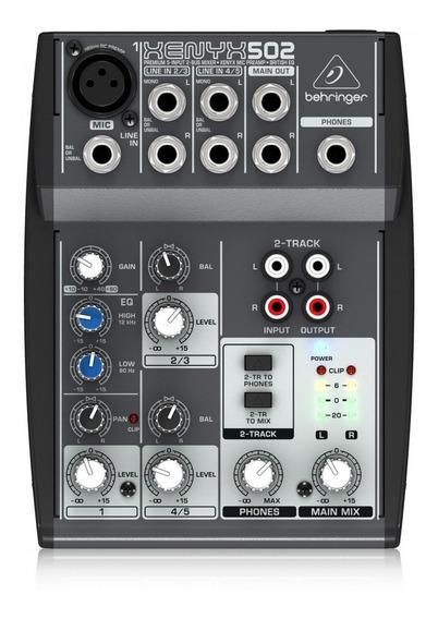 Mesa De Som Analógica Behringer Xenyx 502 5 Canais + Pré Amp