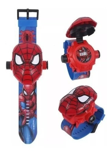 Reloj 3d Proyector Spiderman Niño Juguete