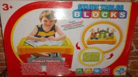 Mesa De Juego Study Tables Blocks Para Niños Juguete