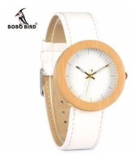 Relógio Feminino Bobo Bird J27 Madeira Natural Original