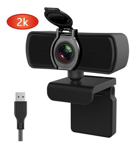 Imagen 1 de 9 de 2k Cámara Webcam Usb Con Micrófono Cámara Web Full Hd 1440p