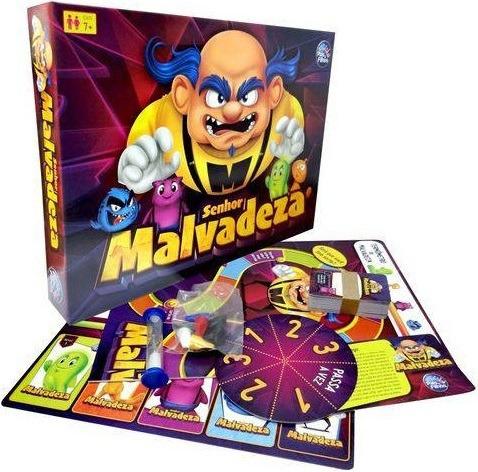 Jogo De Tabuleiro Infantil Senhor Malvadeza - Para Crianças