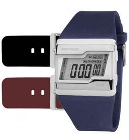 Relógio Mormaii Digital Kit Troca Pulseira Fz/t8n Original