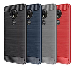 Funda Tpu Fibra Carbono Rugged Moto G7 Power G7 Plus G7 Play