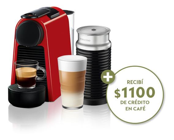 Cafetera Nespresso Essenza Mini D+ Aeroccino3