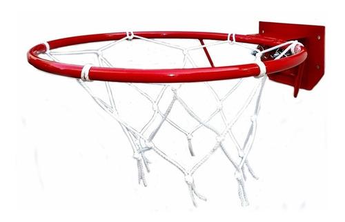 Aro De Basquet Profesional Con Resorte Doble Con Red 46cm