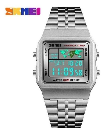 Relógio Hora Mundi Digital Retrô ...
