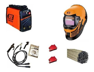 Soldadora Inverter Lusqtoff Iron 250 + Mascara Tig + Kit