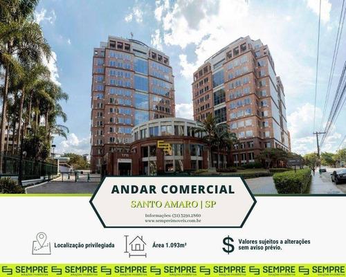 Imagem 1 de 30 de Andar Corporativo Para Alugar, 1.093 M² E 22 Vagas - Santo Amaro - São Paulo/sp - Ac0167