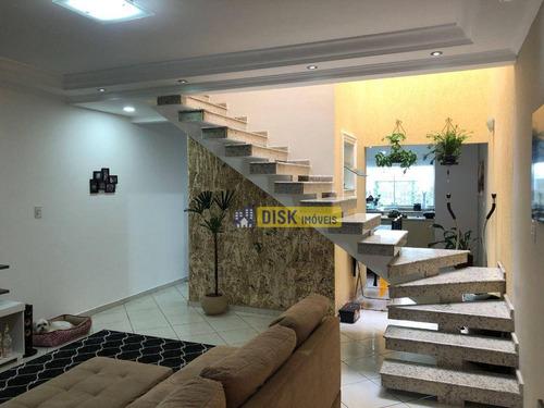 Imagem 1 de 22 de Sobrado Com 3 Dormitórios À Venda, 121 M² Por R$ 520.000 - Jardim Das Maravilhas - Santo André/sp - So0747