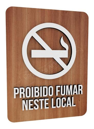 Placa Proibido Fumar Neste Local Indicativa Sinalização