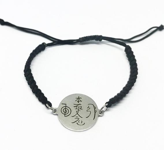 Pulsera Tejida Y Acero Con Simbolos De Reiki Ba41021