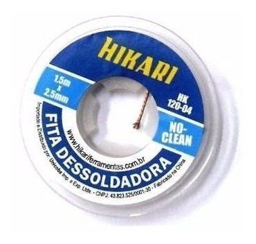 3 Fita Dessoldadora Malha Dessoldadora Hikari 1,5m 2,5mm