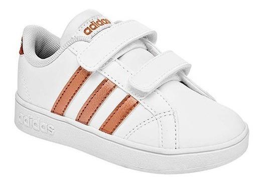 Tenis adidas Baseline Cmf Blanco Tallas De #11 A #16 Bebes