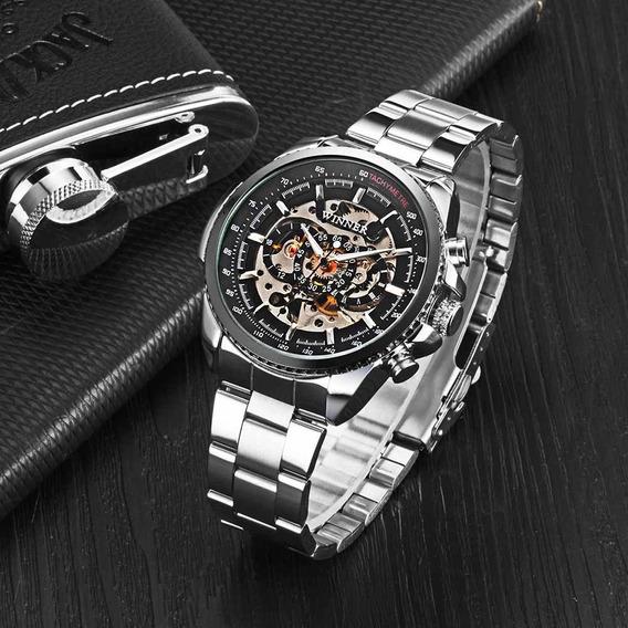 Reloj Automático Winner Calado Y Mecánico De Altasemi