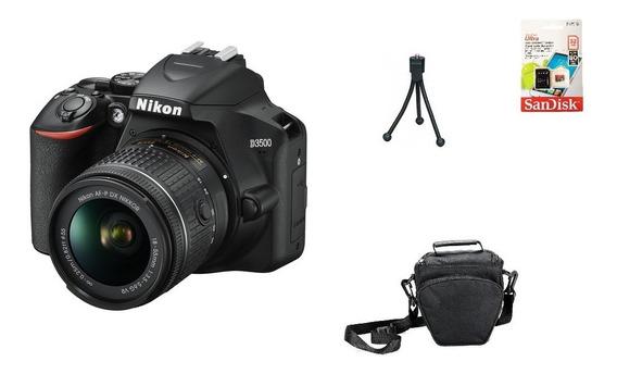 Nikon D3500 + 18-55mm + 32gb + Bolsa + Tripé Garantia Novo