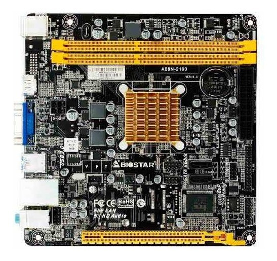 Mb Biostar Cpu Integrado Amd E1-2100/2 X Ddr3 1333/vga/hdmi/