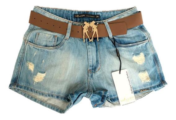 Kit 2 - Short Jeans Miller Original Queima De Estoque Geral