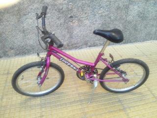 Bicicleta Niña. Lucerna Rodado 20