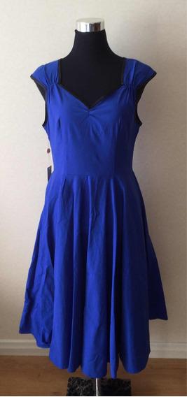 Vestido Vintage Fiesta Azul Nuevo