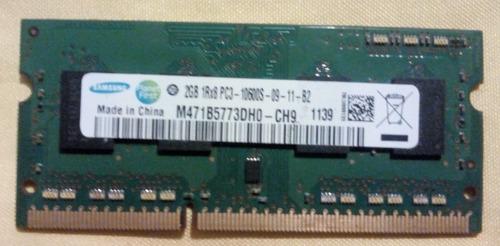 Memoria Ram Samsung Ddr3 2gb Pc3 10600 Laptop