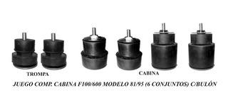 Conjunto Soporte / Tacos De Cabina F100 / 600 Modelo 81 / 95