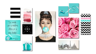 Kit 11 Quadros Decorativos - Artes Geométricas Tiffany Style
