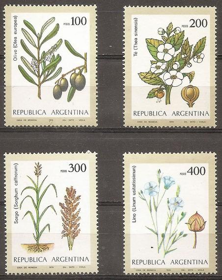 Argentina 1172/5 Gj 1856/9 Agricultura A 1979 Mint