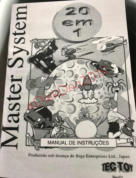 Manual Master System 20 In 1 - Repro