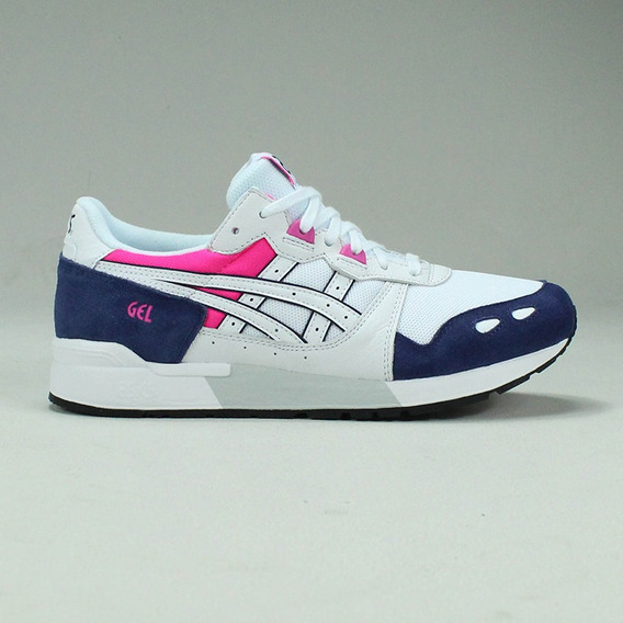 Tênis Asics Tiger Gel Lyte Branco Rosa Roxo Sneaker Original