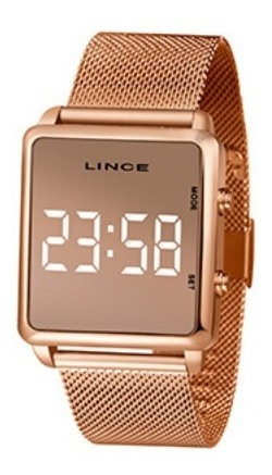 Relógio Lince Feminino Rosê Mdr4619l Digital De Led