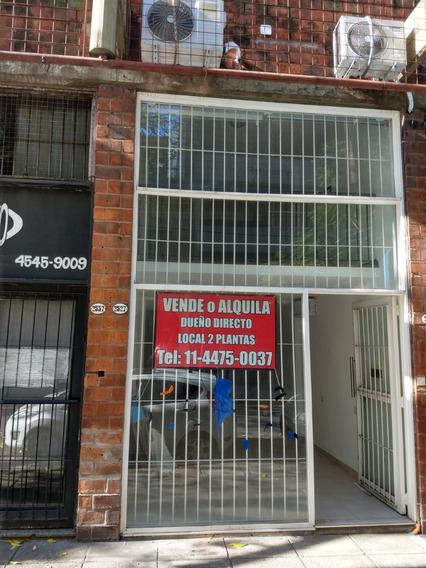 Excelente Local En Belgrano 2 Plantas Flamante Dueño Directo