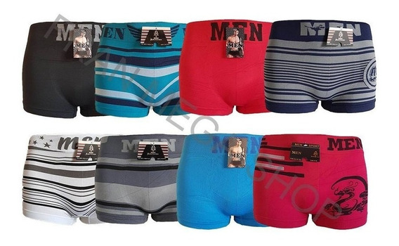 Kit Com 12 Cuecas Boxer Men