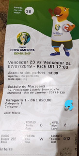 Ingresso Final Copa América Categoria 1