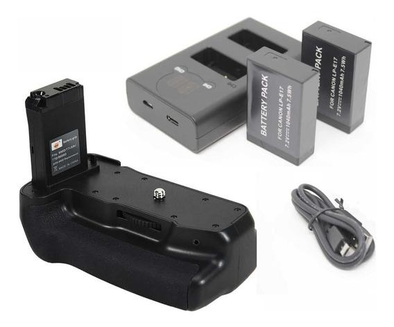 Battery Grip + 2 Baterias +carr Duplo P/ Canon 800d T7i, 77d