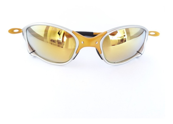 Óculos De Sol Double Xx Metal 24k Juliet Penny Squared Lupa
