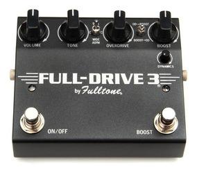 Fulltone Full-drive 3 Iii Overdrive Boost - Novo