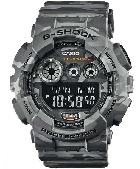 Relógio Casio G-shock Camuflado Masculino Gd-120cm-8dr