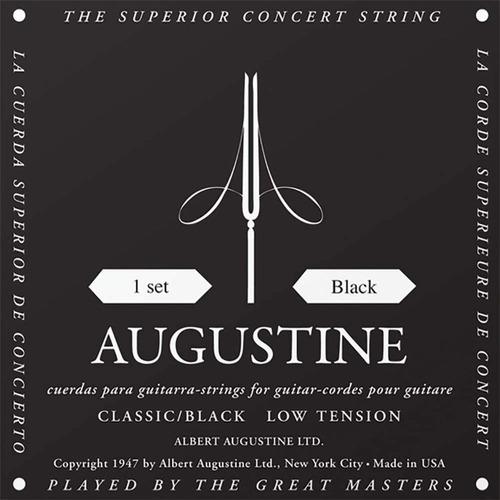 Cuerdas De Guitarra Clásica Augustine Black Usa Tensión Baja
