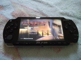 Psp Sony Original Slim Desbloqueado Cartão 8 Gb Com 50 Jogos