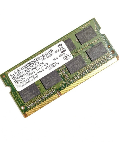 Memoria 4gb Ddr3 Pc3l Para Notebook Positivo Stilo Xr3525