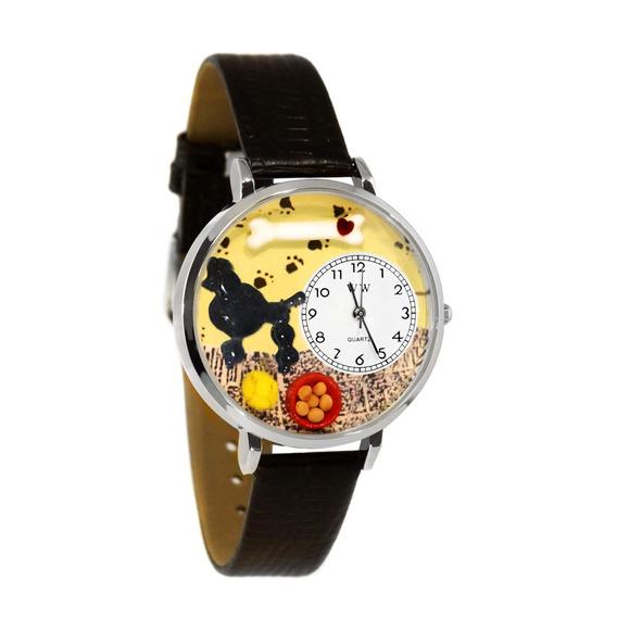 Caniche Reloj De Plata (grande)