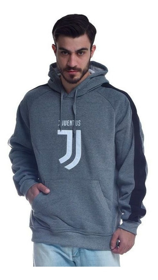 Moletom Juventus Grafite E Preto