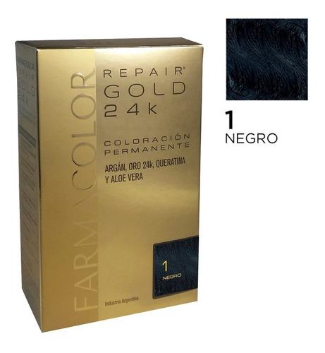 Farmacolor Repair Gold Negro N° 1 X 1 Estuche. De Fábrica.