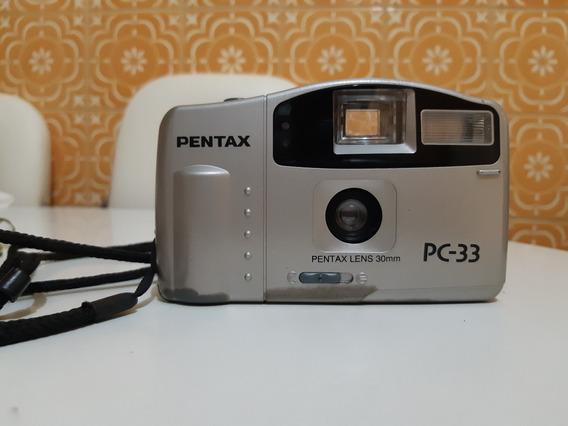 Câmera Máquina Fotográfica Analógica Pentax Pc33