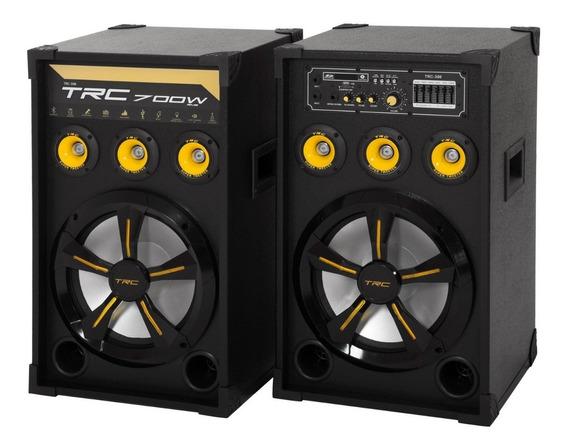 Caixa De Som Amplificada Trc 398 Bluetooth 700w