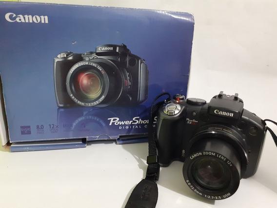 Câmera Canon S5 Is Preto Na Caixa