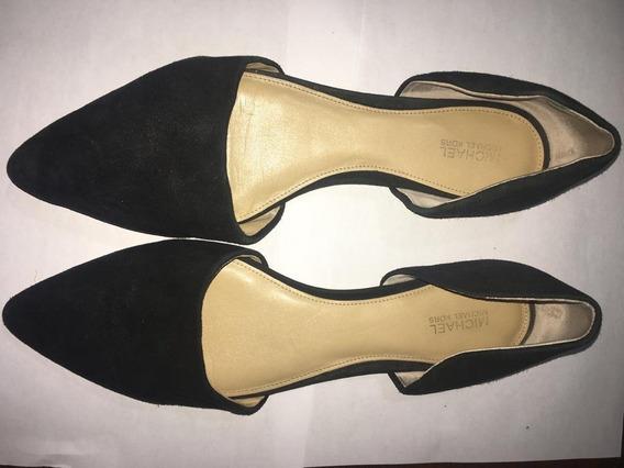 **michael Kors Zapatos Negros 26.5 100% Piel