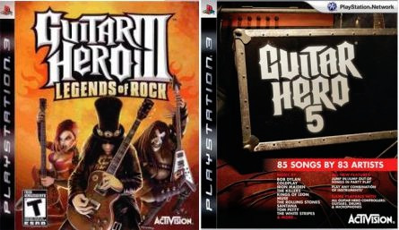 Jogos Ps3 2 Guitar Hero 3 E 5 Midia Digital
