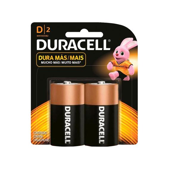 Duracell Pilha Alcalina D Com 2 Unidades